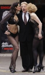 "Jerry Springer enjoying his role in ""Chicago."""