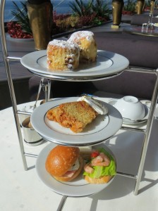 An elegant High Tea was served every afternoon in the Top Sail Lounge.