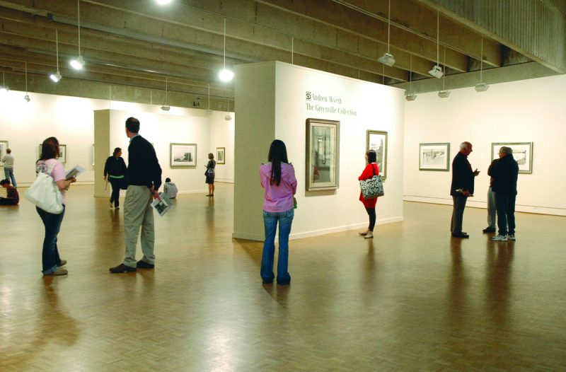 Although it's small, the Greenville County Museum of Art houses 35 paintings of Andrew Wyeth.