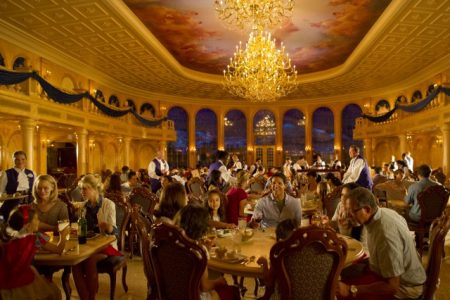 For the first time alcohol is available in the Magic Kingdom. You can enjoy wine and beer during dinner when you dine at the Be Our Guest restaurant inside the Beast's Castle in the new Fantasyland.
