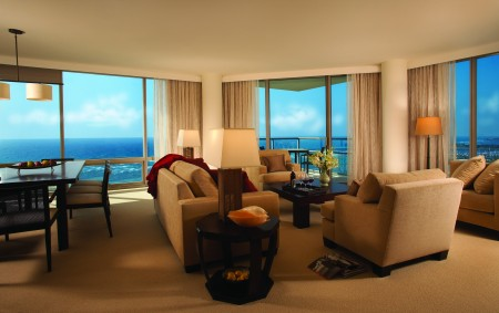 A beautiful, well-equipped suite at the Trump Waikiki