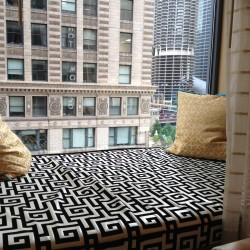 My balcony at Hotel Monaco, a Kimpton Hotel in Chicago