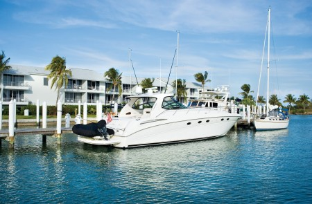 My room at South Seas Resort overlooked the marina, where manatees like to hang out