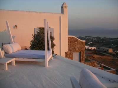 You can't argue with the views. And yes, there are two other bedrooms so you aren't limited to sleeping on the precipice of the world. But I can just envision myself lying under the stars after a few glasses of ouzo, getting up to use the restroom, and then taking my final steps right off that roof.