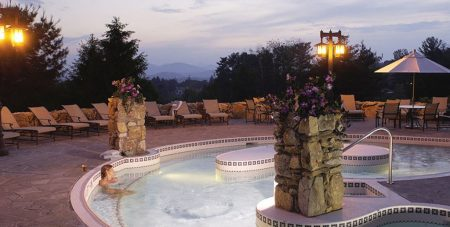 Outdoor pool at Grove Park Inn