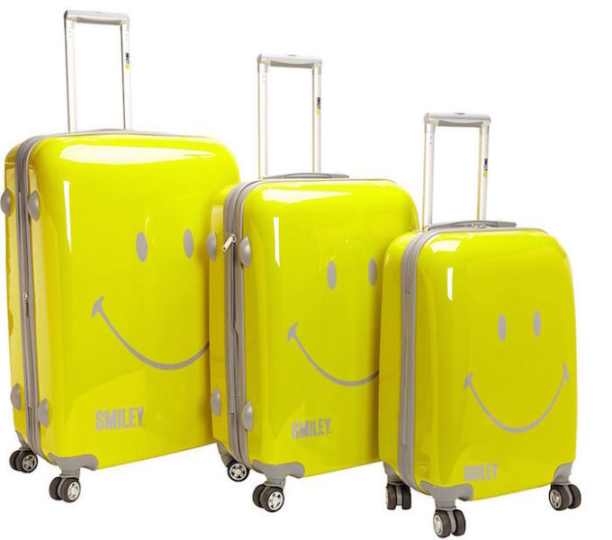 smiley luggage