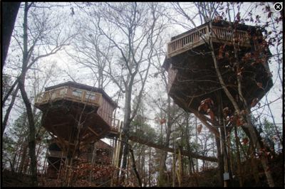 treehouses, Historic Banning Mills