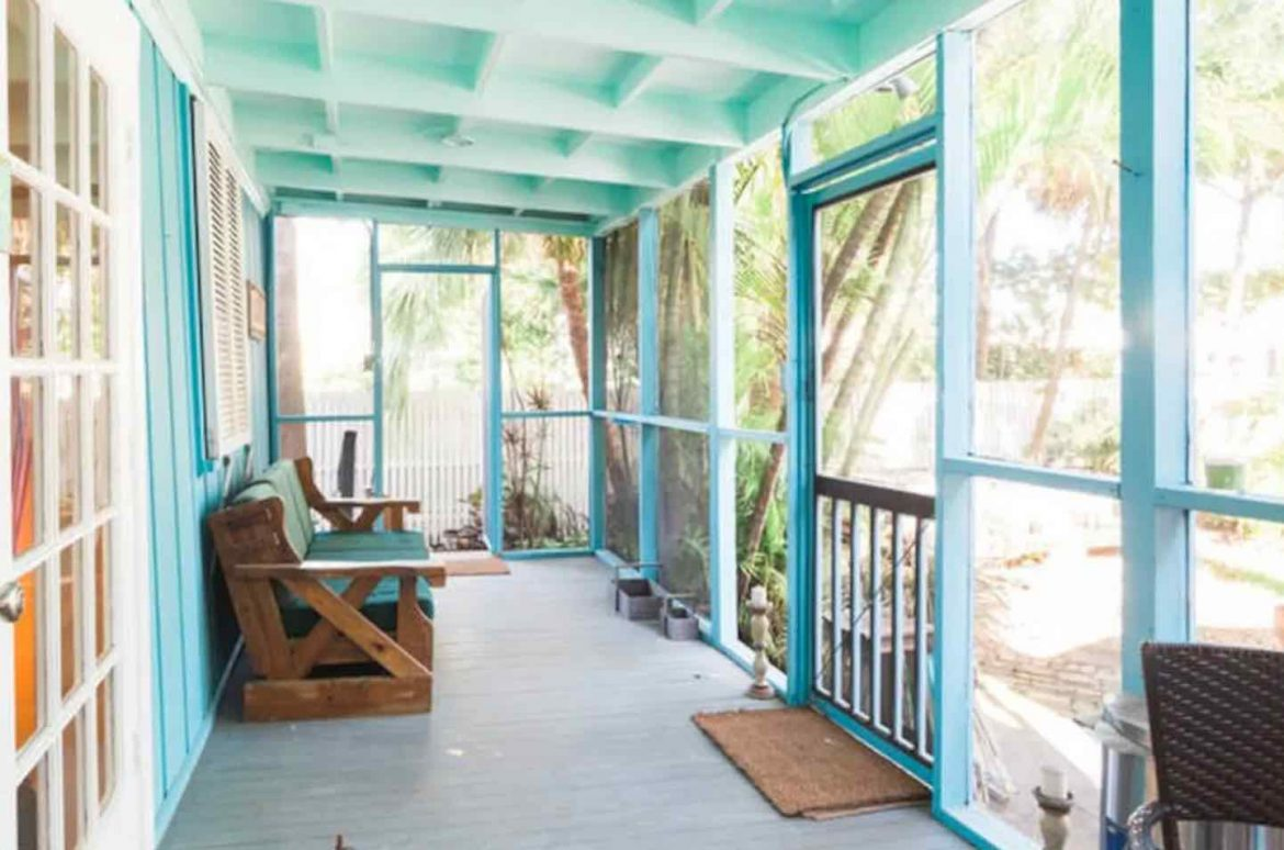 green house porch in Airbnb in Key West