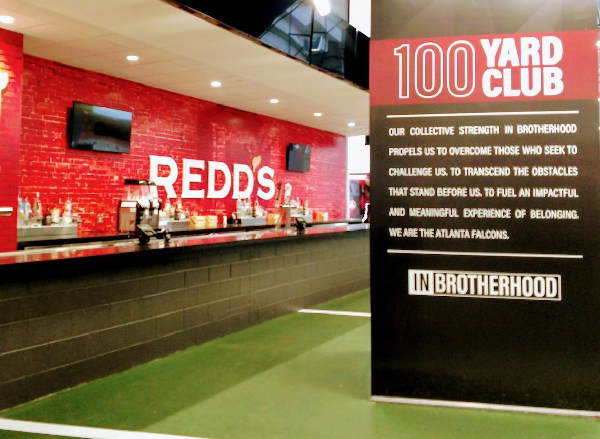 Atlanta Falcons stadium, 100 Yard Club