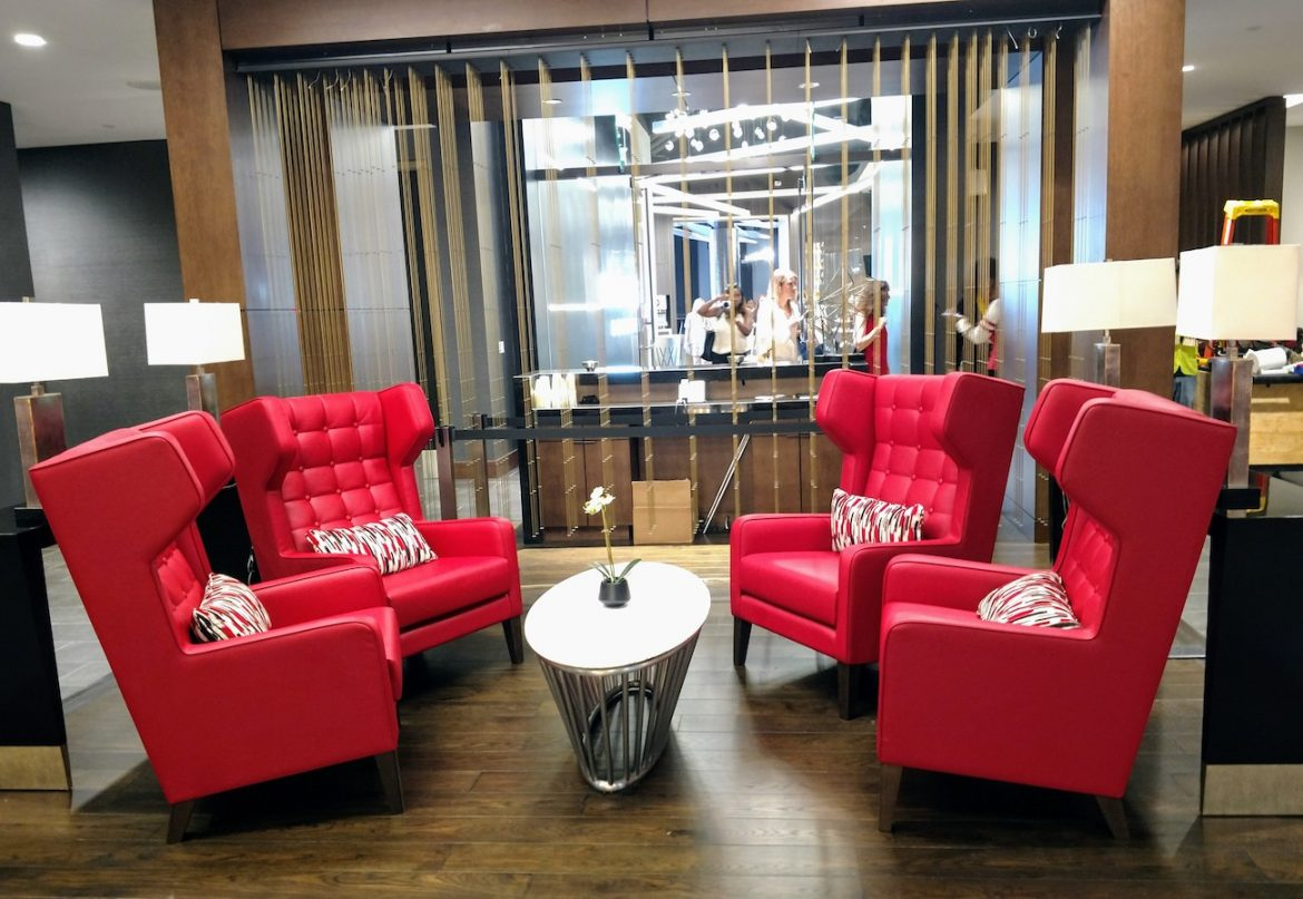 Atlanta Falcons stadium club lounge