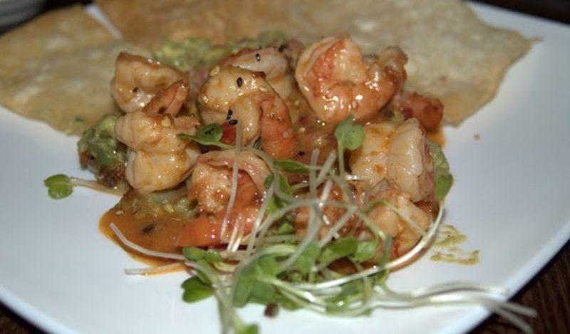 shrimp appetizer, Genki Noodles and Sushi