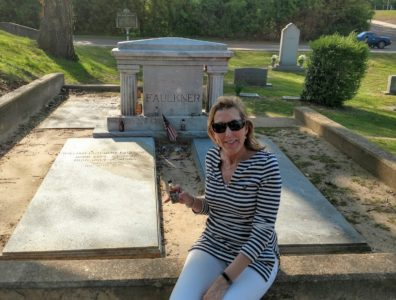 William Faulkner's grave in Oxford, Mississippi