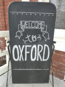 welcome sign in Oxford, Mississippi