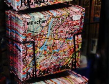 suitcase with map of Munich