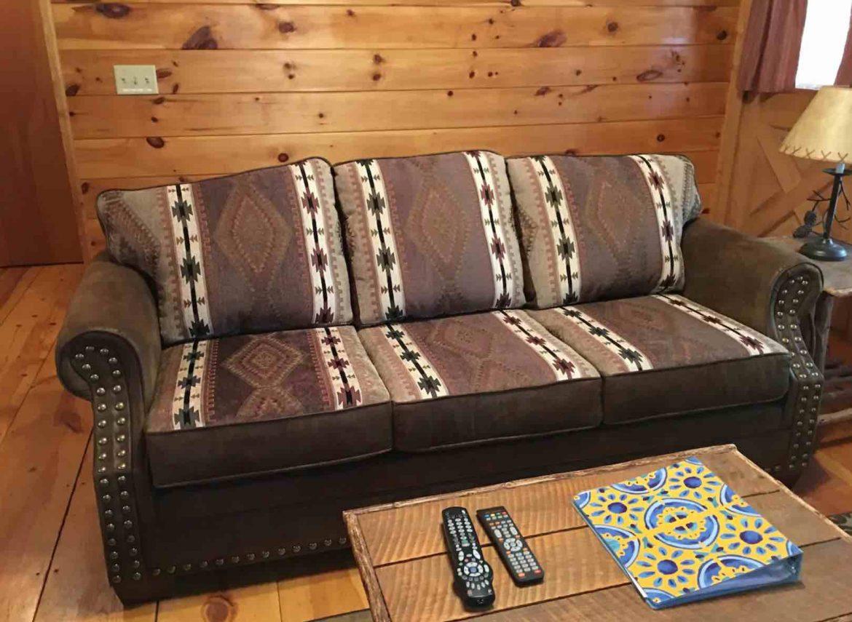 living room of Mountain Log Cabin