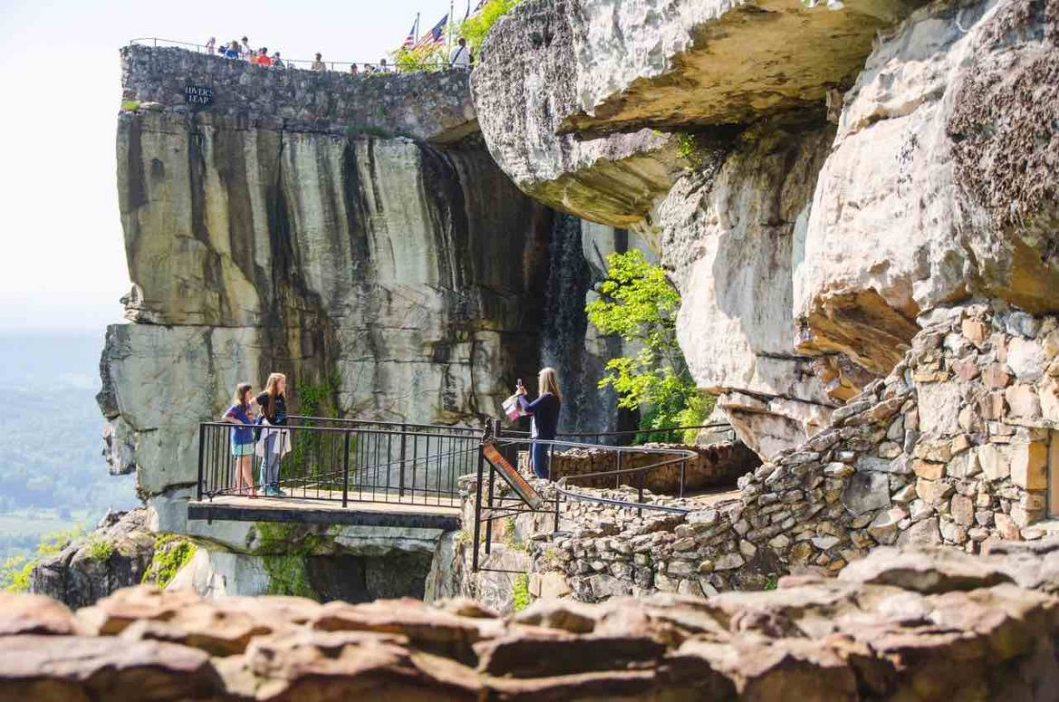 view of Rock City Gardens in Chattanooga