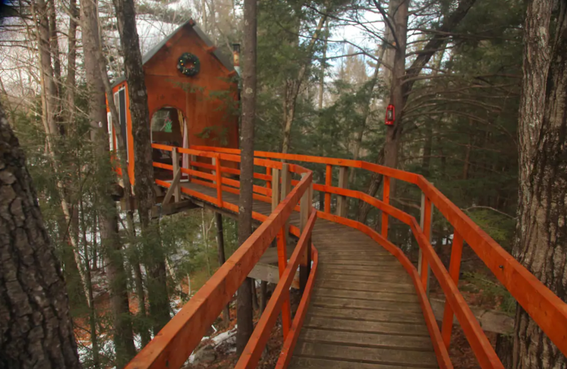 Treetop Sanctuary airbnb treehouse rentals