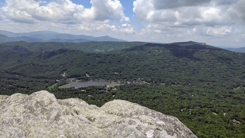 view of valley from Grandfather Mountain in North Carolina