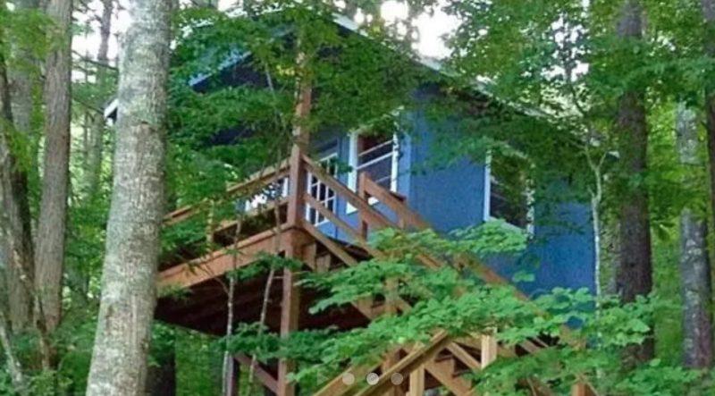 raven's nest treehouse near boone, north carolina